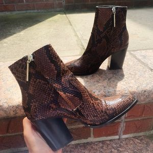 Zara snake print booties